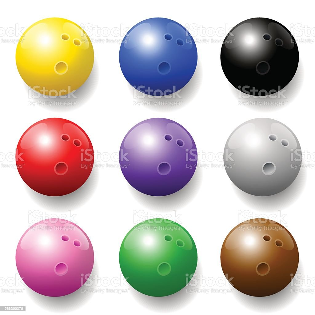 Bowling Balls Colors Set – Vektorgrafik