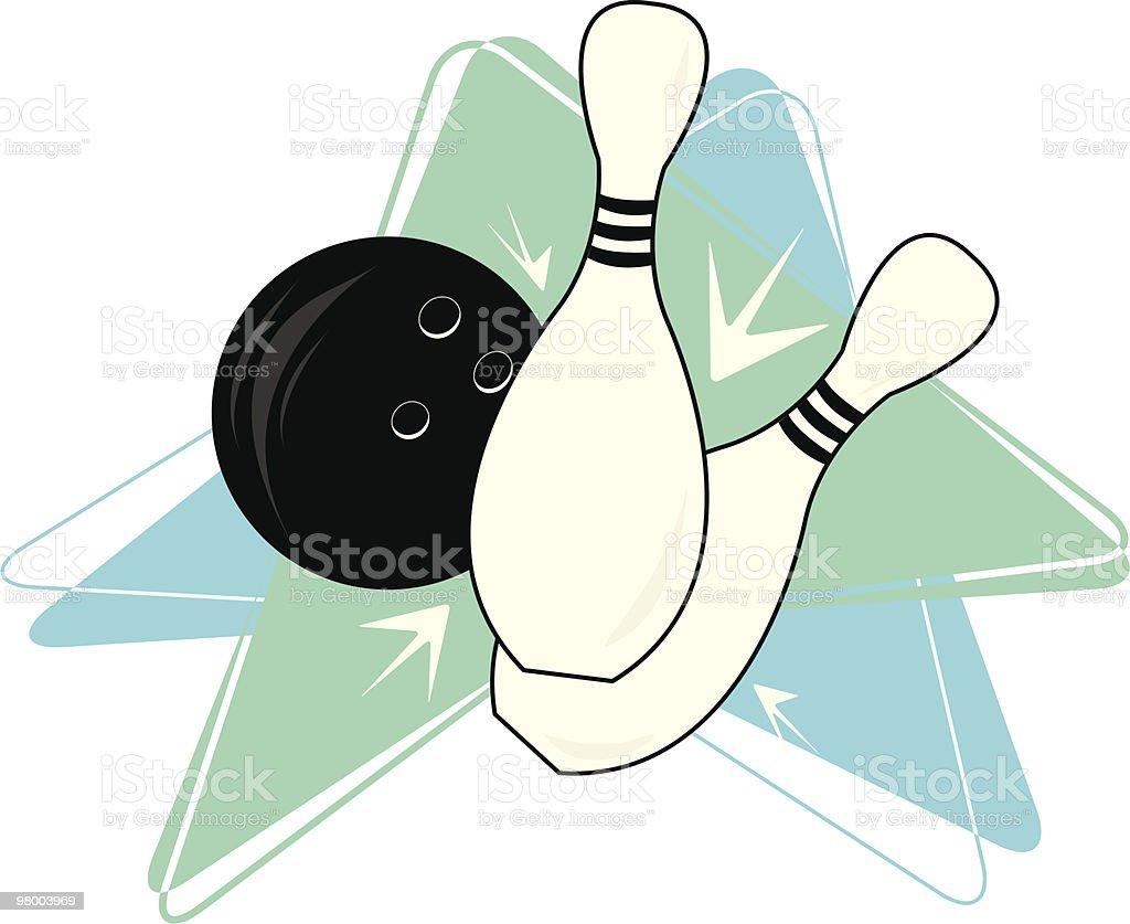 Bowling Boomerang vector art illustration