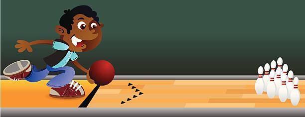 Bowling Boy vector art illustration