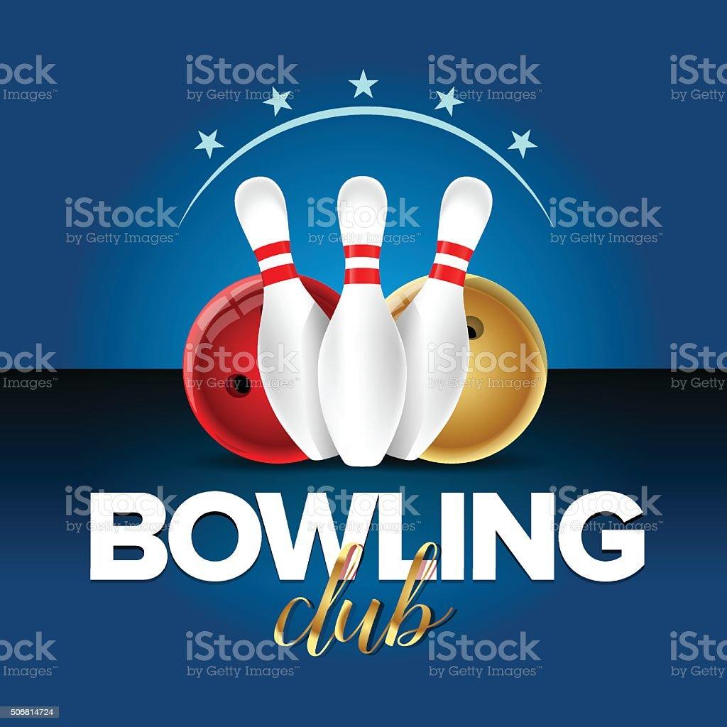 Plantilla De Tarjeta De Bowling Bowling Club De Campeón Bandera ...