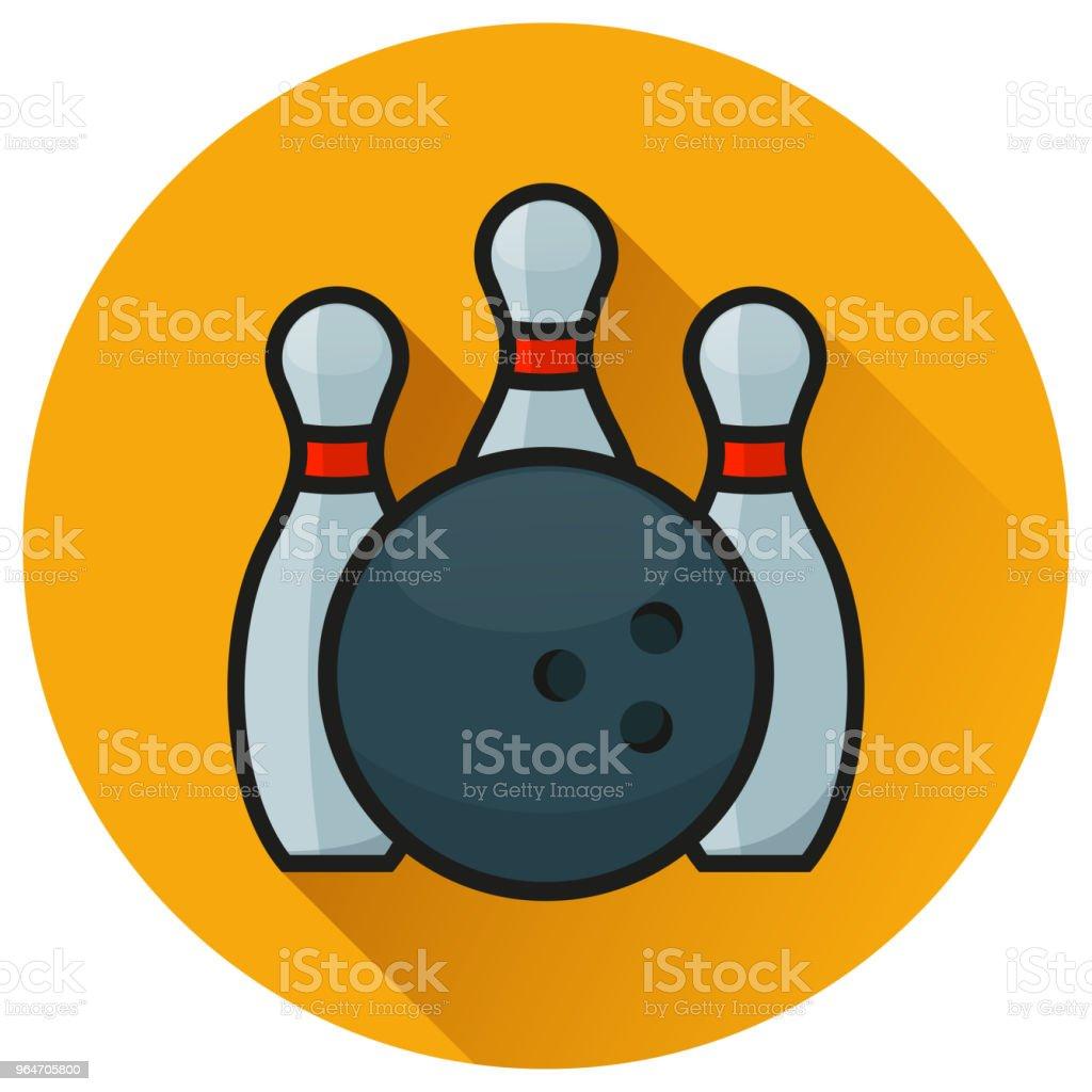 bowling circle orange flat icon royalty-free bowling circle orange flat icon stock vector art & more images of activity