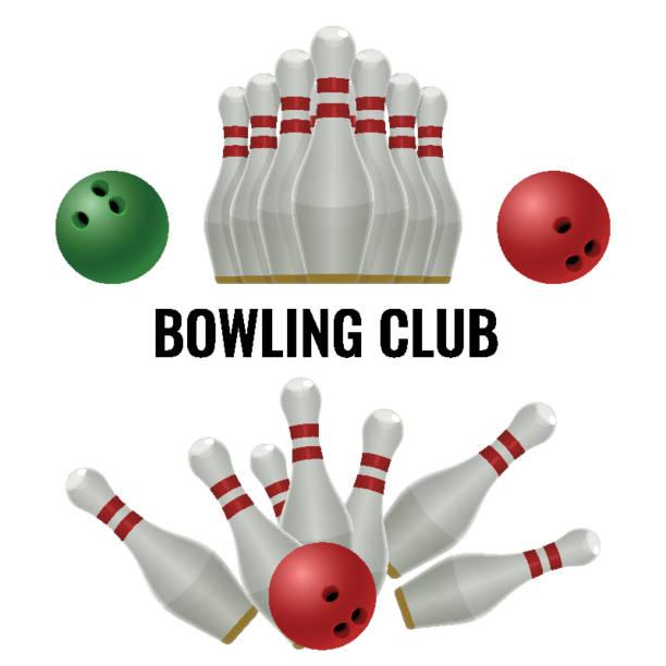 Bowling club design of equipment for play. Vector illustration vector art illustration