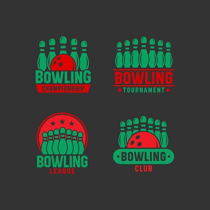 Bowling Design Logo Vector Collections
