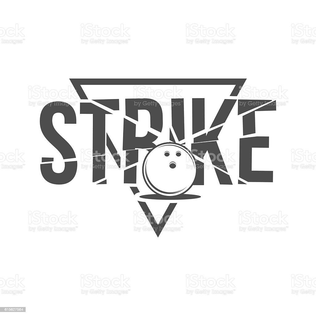bowling emblem, label, badge and designed elements vector art illustration