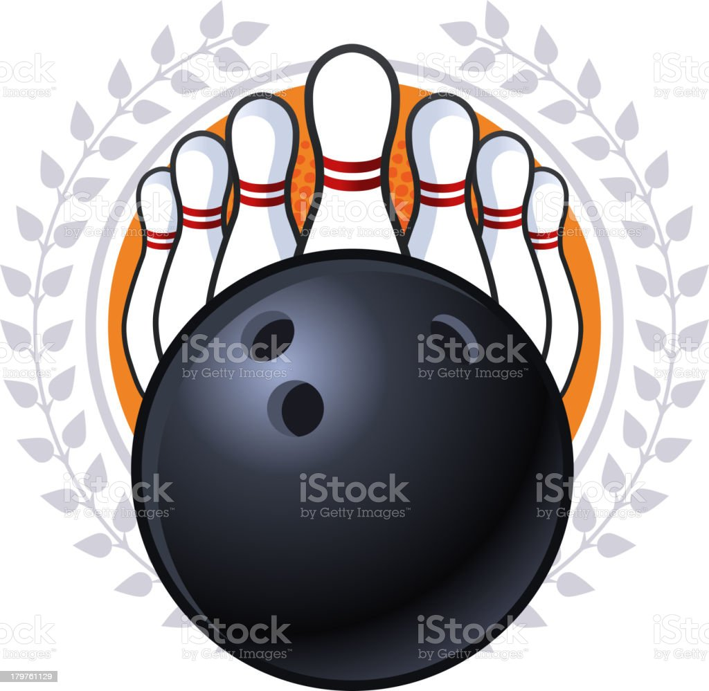 Bowling Emblem vector art illustration
