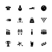 Bowling - Flat Vector Icons