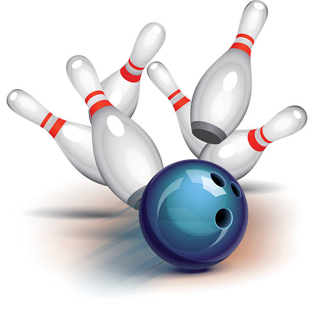 Bowling Game (front view) vector art illustration