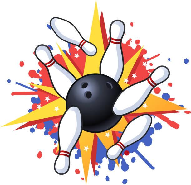 Bowling Strike Clipart – 101 Clip Art  |Bowling Pin Strike Clipart