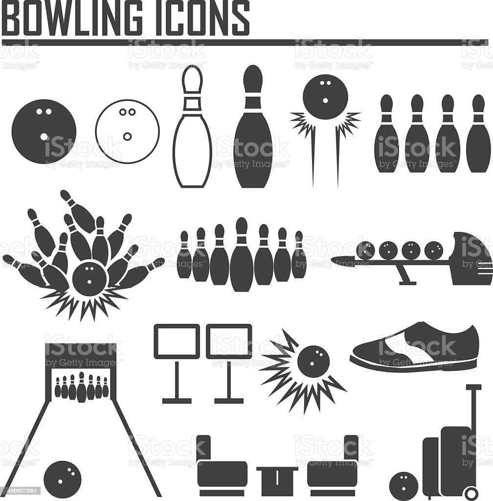 bowling icon vector. vector art illustration
