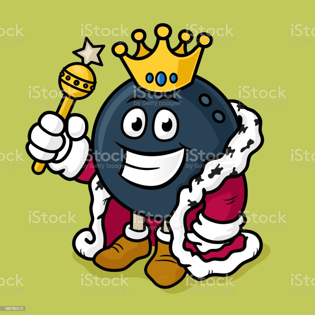 Bowling king vector art illustration