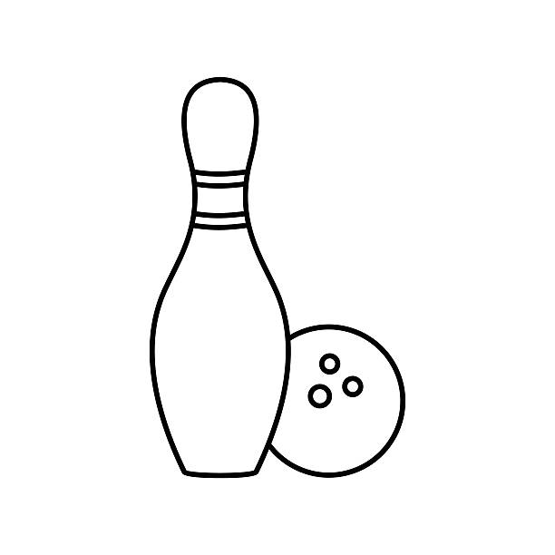 Royalty free candlepin bowling clip art vector images illustrations istock - Bowling dessin ...