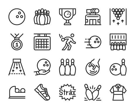 Bowling - Line Icons