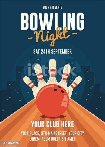istock Bowling Night Flyer Template 922369480