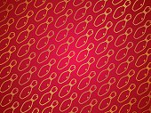 Bowling pattern, gold pins on a red gradient background