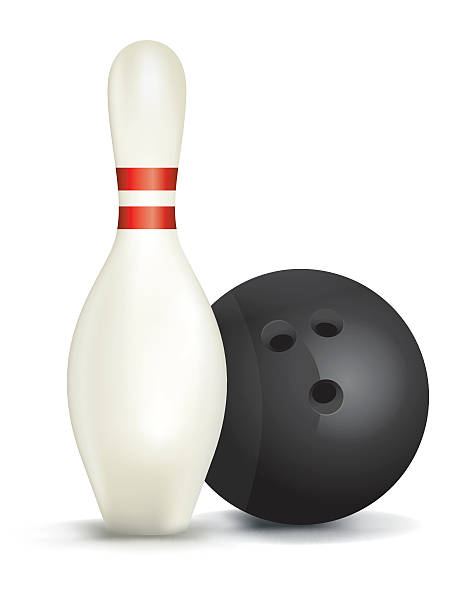 Bowling Pin and Ball Isolated Illustration vector art illustration
