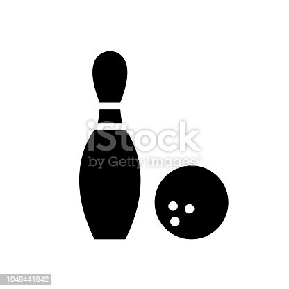 bowling pin and bowling ball