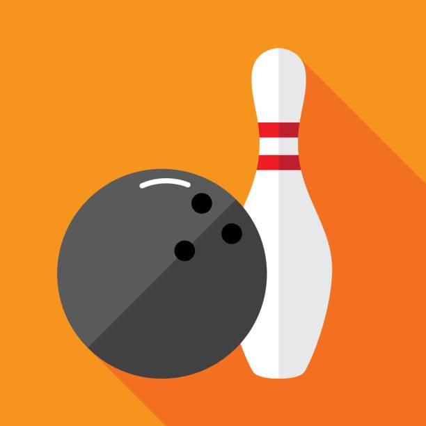 Bowling Pin Icon Flat vector art illustration