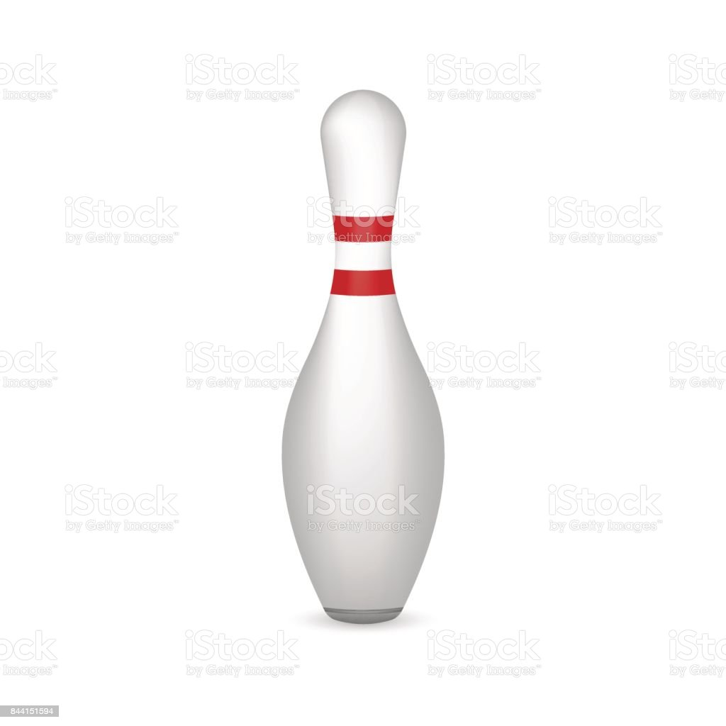 bowling pin isolated on white. Vector illustration. vector art illustration