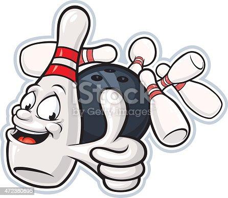istock Bowling Pin Mascot 472380895