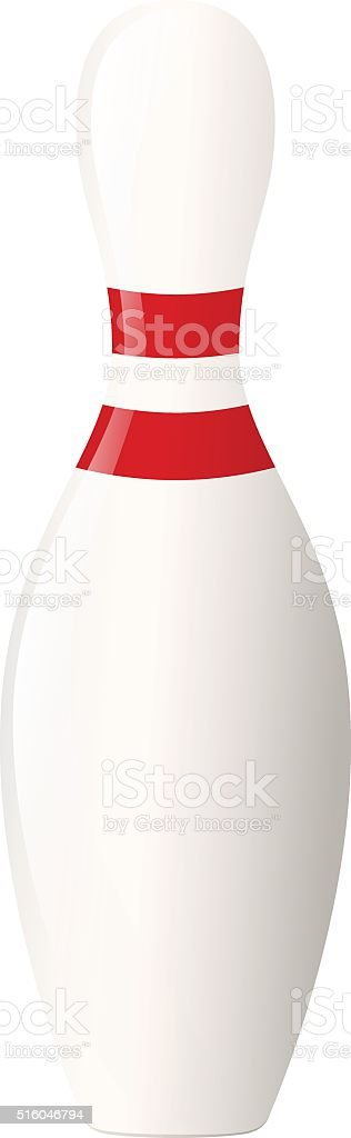 Bowling pin vector art illustration