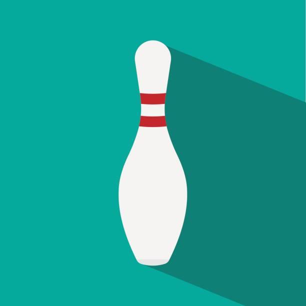 bowling pin vector art illustration