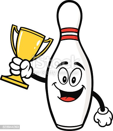 Bowling pin with trophy stock vector art more images of award 523944263 istock - Bowling dessin ...