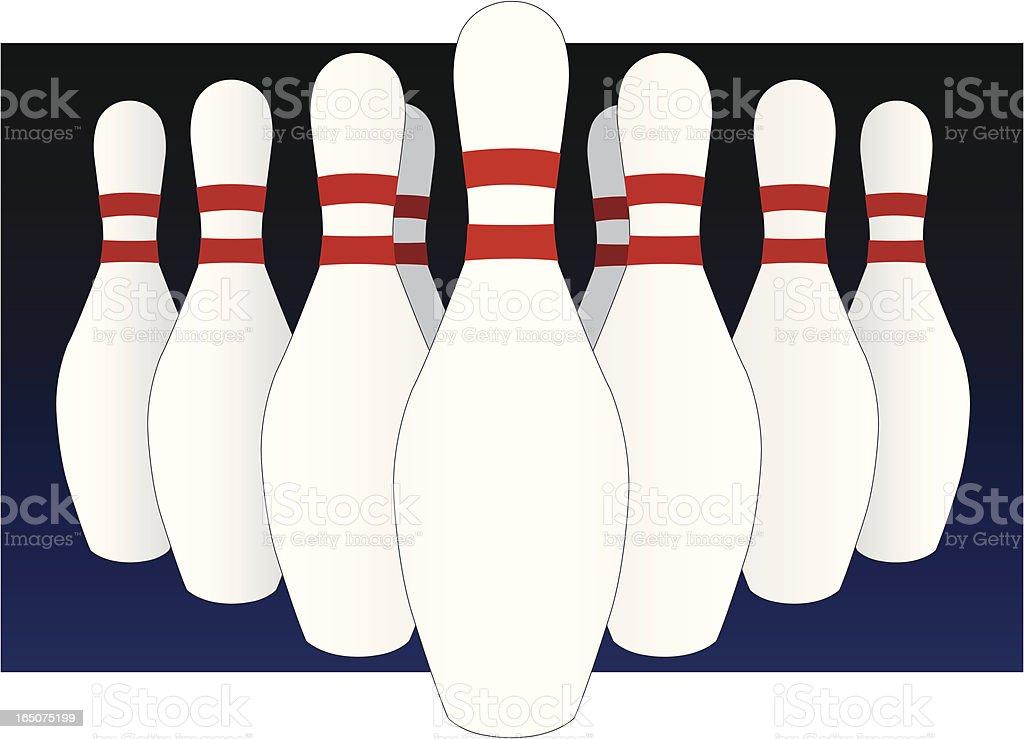 Bowling Pins royalty-free stock vector art