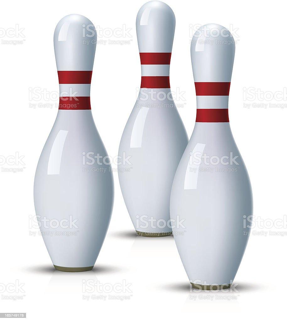 Bowling Pins Stock Vector Art & More Images of Bowling Pin 165749178 ...