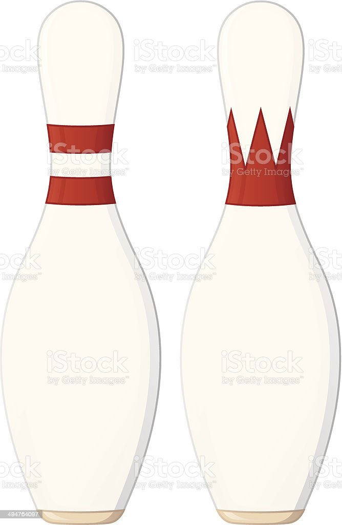 Bowling Pins vector art illustration