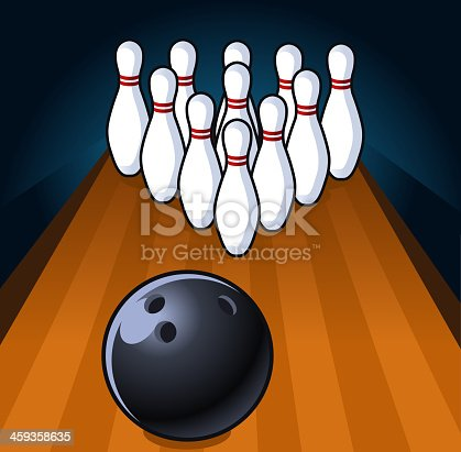 istock Bowling Scene up to Strike 459358635