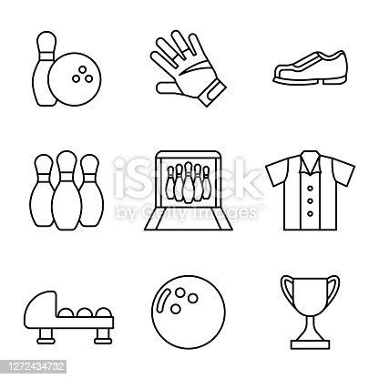 bowling set icon vector illustration design