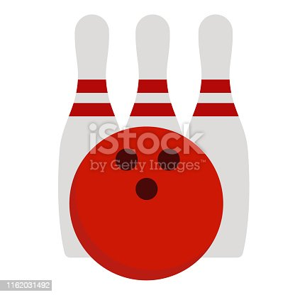 Bowling set simple illustration on white background. Everyday objects and lifestyle series.