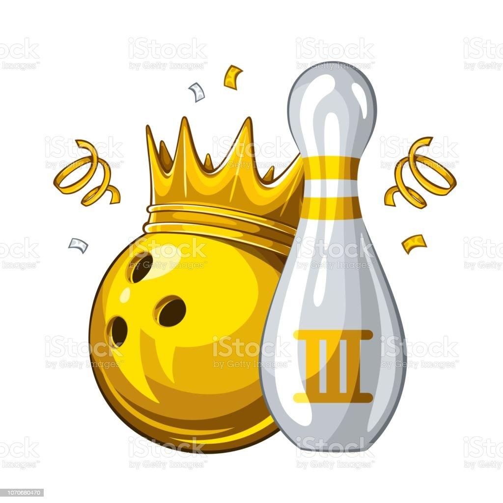 Comment Faire Pour Ouvrir Un Bowling quille de bowling et boule de bowling dans la couronne dor