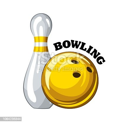 Free download of Cartoon Bowling Ball vector graphics and