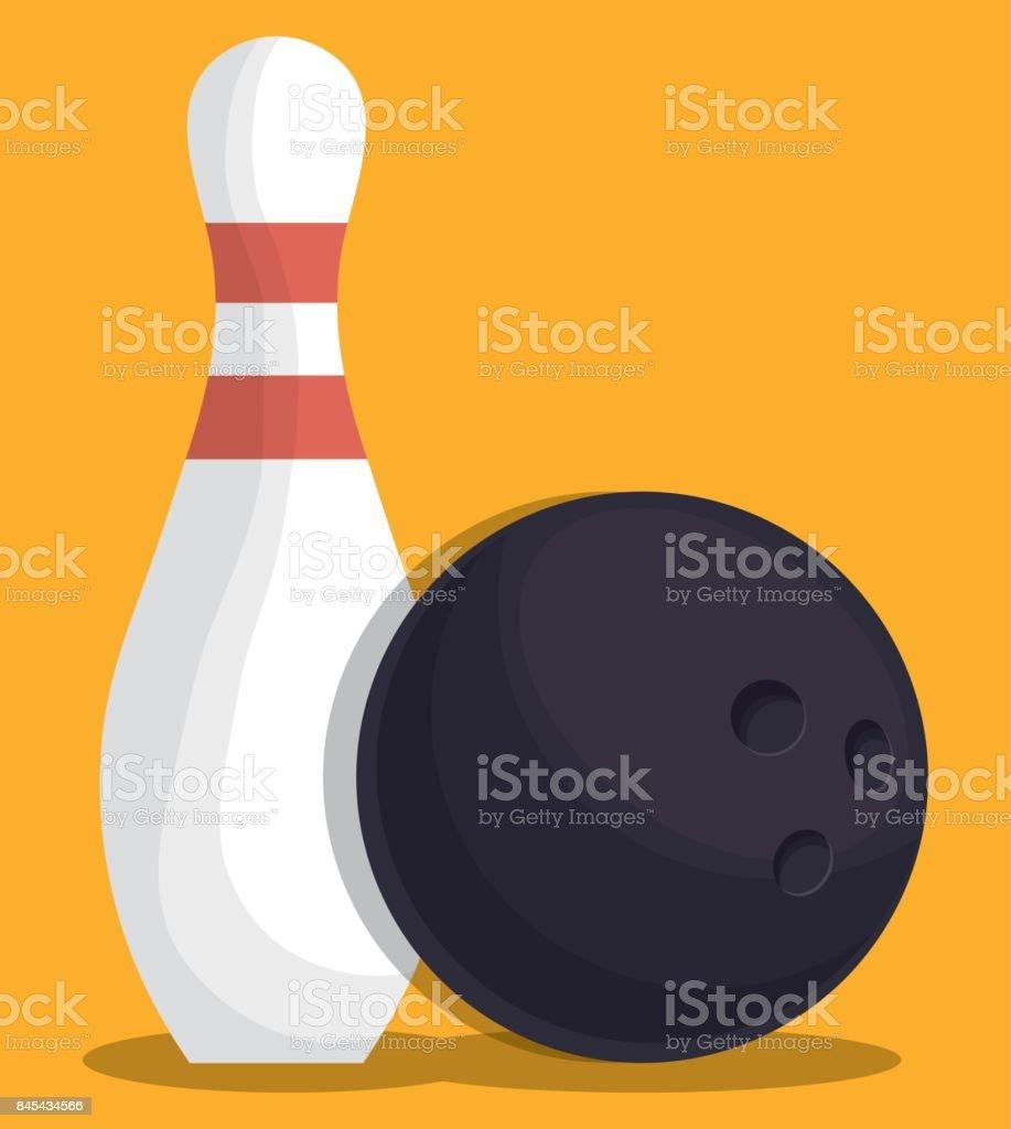 Bowling-Sport-design – Vektorgrafik