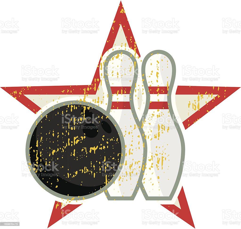 Bowling Star vector art illustration
