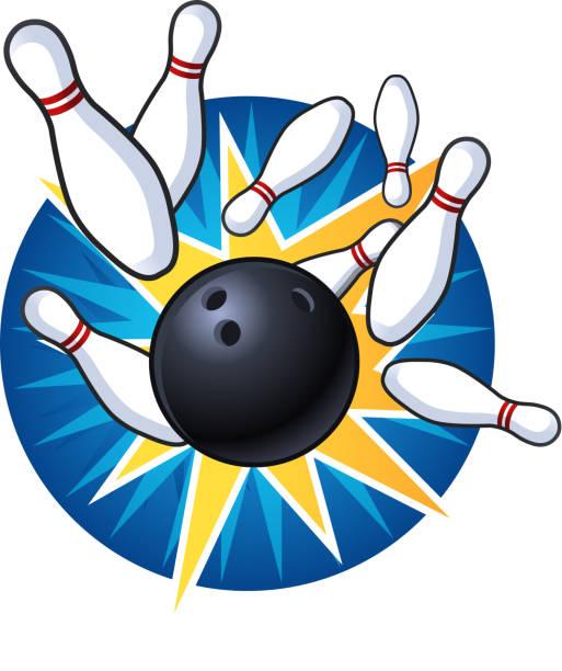 Ten Pin Bowling STRIKE Wall Sticker – ZygoMax  |Bowling Pin Strike Clipart
