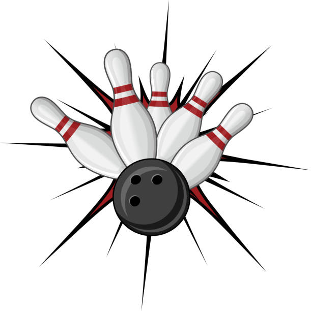 Bowling symbol vector art illustration