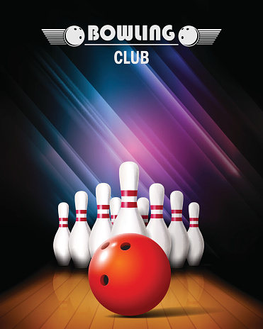 Bowling tournament poster.