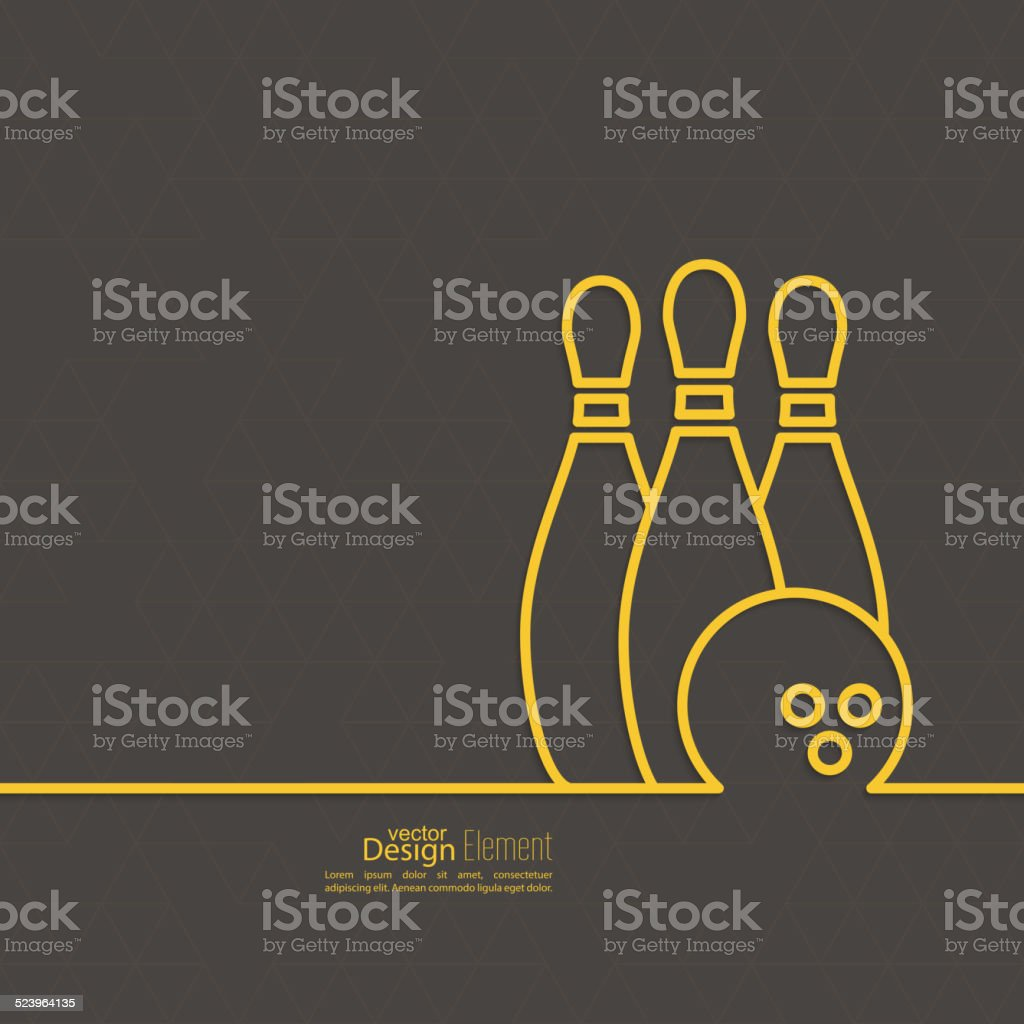 Bowling. Vector abstract background. vector art illustration