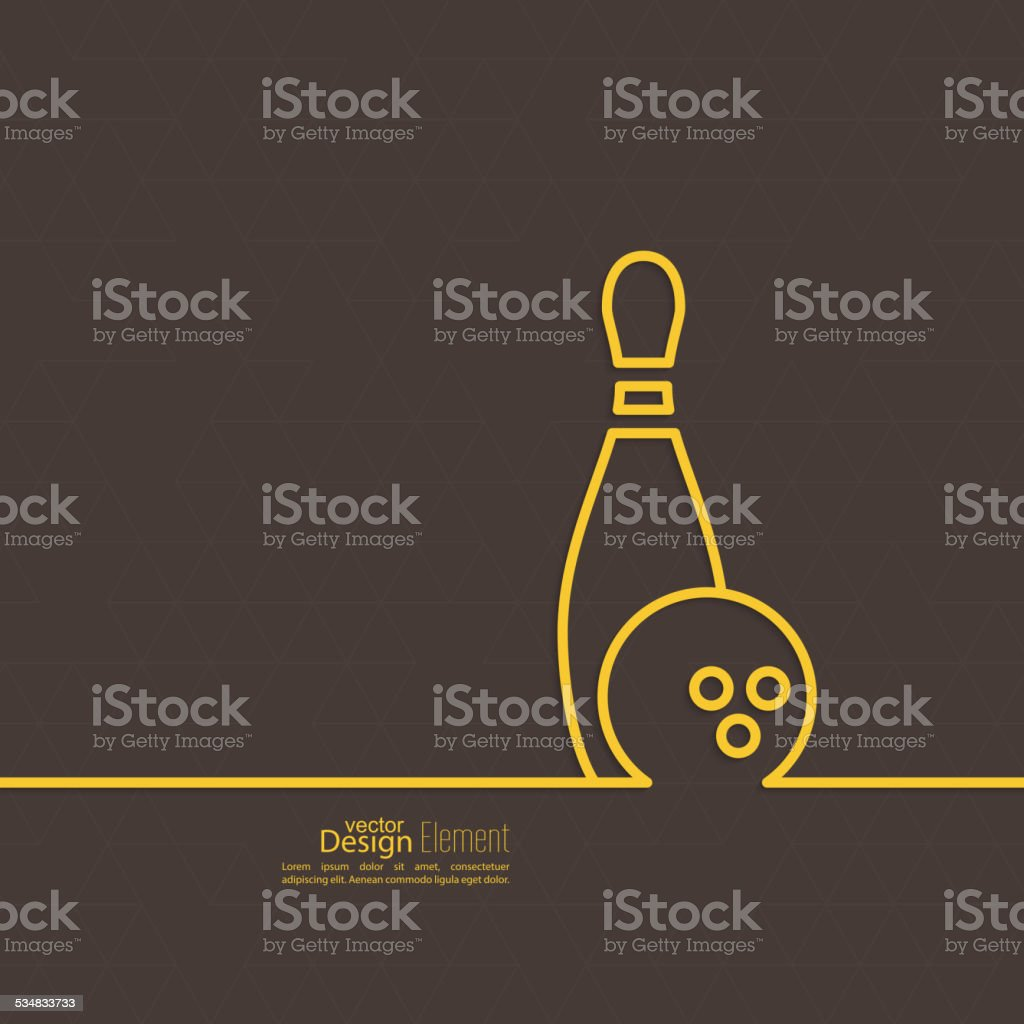 Bowling. Vector abstract background vector art illustration