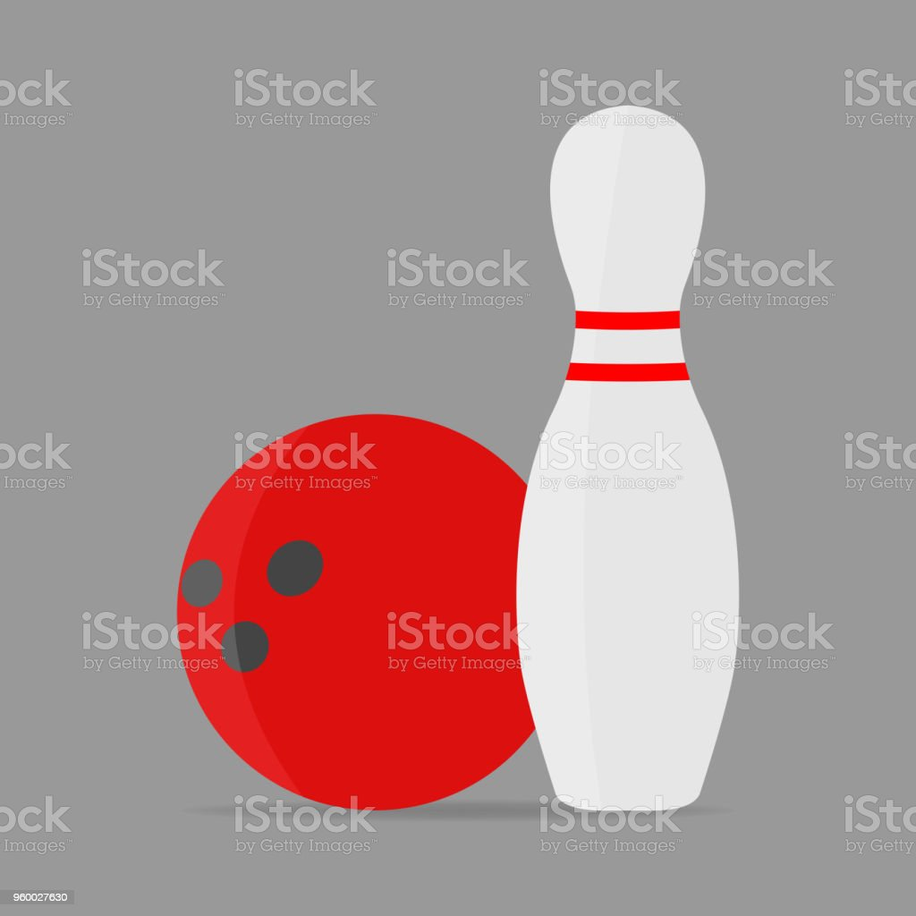Bowling vector icon. The ball symbol of bowling.