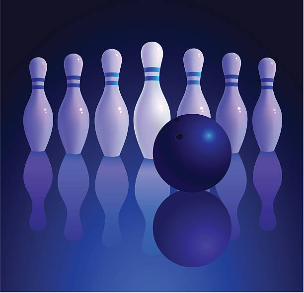 bowling vector art illustration
