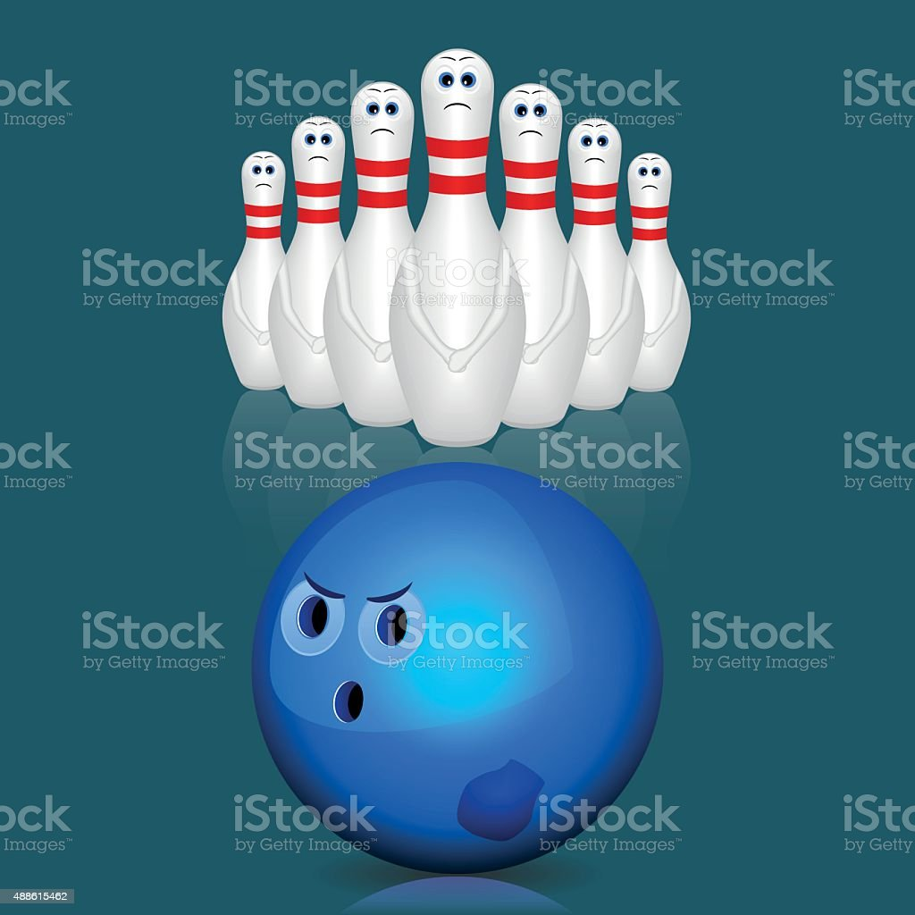 Bowling. vector art illustration