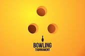 Sport background with bowling tournament. Vector illustration