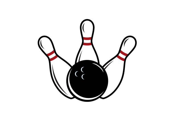 Bowling vector image Bowling pin and bowling ball. Bowling on a white background ten pin bowling stock illustrations