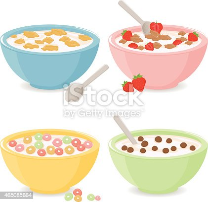 istock Bowls of breakfast cereal 465085664