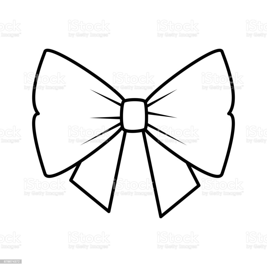 bowntie ribbon isolated icon vector art illustration