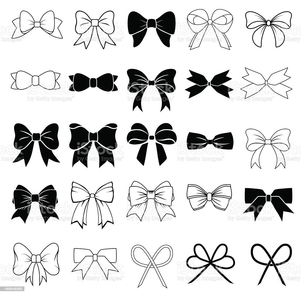 Bows vector art illustration