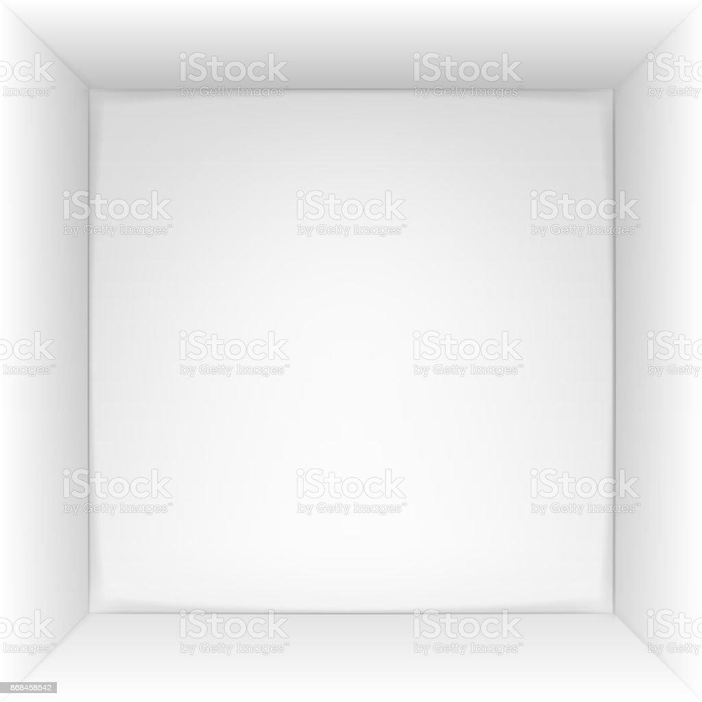 Caixa 3d vista superior. Ilustração em vetor. - ilustração de arte em vetor